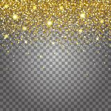 Effect of flying parts gold glitter luxury rich design background. Light gray background for effect. Stardust spark the explosion. On a transparent background Royalty Free Illustration