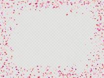 Effect makkelijk te gebruiken Valentijnskaartenconfettien Eps 10 stock illustratie