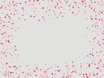 Effect Valentines confetti easy to use. EPS 10 stock illustration