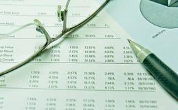 Effectenbeursanalyse Royalty-vrije Stock Afbeelding