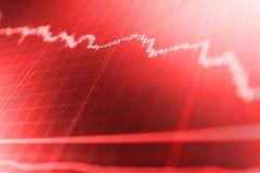 Effectenbeurscitaten op vertoning Het investeren en conceptenaanwinst en winsten met langzaam verdwenen kandelaargrafieken royalty-vrije stock afbeelding