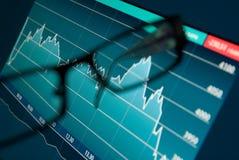 Effectenbeursgrafiek Stock Foto's