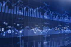 Effectenbeursgrafiek Stock Afbeelding