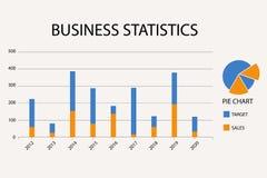 Effectenbeursgrafiek Bedrijfsgrafiekachtergrond, Financiële Achtergrond, Economische Achtergrond, Vectorillustratie vector illustratie