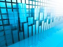 Effectenbeursgrafiek en Grafiek Bedrijfs achtergrond Stock Fotografie