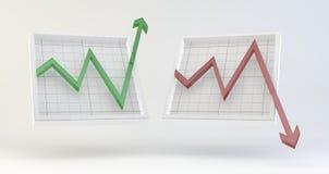 Effectenbeursgrafieken Stock Afbeelding