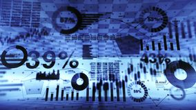 Effectenbeursinvestering handel Bedrijfs infographic grafieken en grafieken Abstracte financiële grafiek met uptrend lijn Succes  stock illustratie