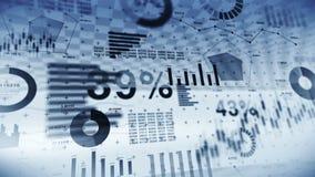 Effectenbeursinvestering handel Bedrijfs infographic grafieken en grafieken Abstracte financiële grafiek met uptrend lijn Succes  stock videobeelden