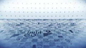 Effectenbeursinvestering handel Bedrijfs infographic grafieken en grafieken Abstracte financiële grafiek met uptrend lijn Succes  royalty-vrije illustratie