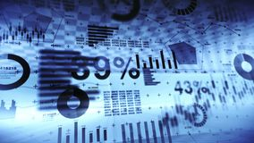Effectenbeursinvestering handel Bedrijfs infographic grafieken en grafieken Abstracte financiële grafiek met uptrend lijn Succes  vector illustratie