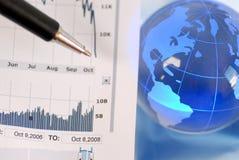 Effectenbeursneerstorting Stock Afbeelding