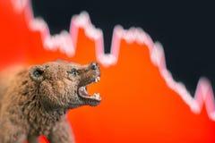 Effectenbeursneerstorting met grafiek royalty-vrije stock fotografie