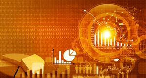 Effectenbeursrapport Stock Afbeelding