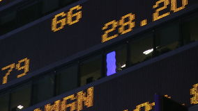Effectenbeursticker stock footage