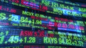 Effectenbeurstickers - de Achtergrond van de Digitale Gegevensvertoning stock video