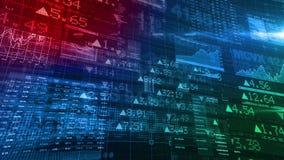 Effectenbeurstickers - de Achtergrond van de Digitale Gegevensvertoning stock videobeelden