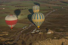 Effective balloon landings Royalty Free Stock Photos