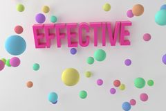 Effective, business conceptual colorful 3D rendered words. Cgi, web, creativity & caption. Effective, business conceptual colorful 3D rendered words. CGI royalty free illustration