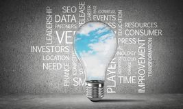 Effective business innovations for world. royalty free stock photography