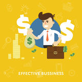 Effective business management concept Stock Photography