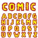 Effective Comic alphabet Stock Photography