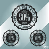 Business Discount Sales Banner. Vector Elements. Minimal Market Stamp Illustration. EPS10 Royalty Free Stock Image