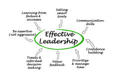 Effective Leadership. Diagram of components Effective Leadership Royalty Free Stock Photography