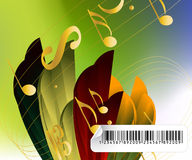 Effective musical background vector illustration