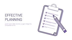 Effective Planning Concept Time Management Template Web Banner With Copy Space. Vector Illustration Stock Photo