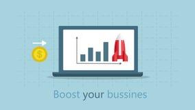 Effective promotion. Turbo SEO boost. vector illustration