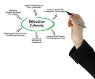 Effective Schools. Presenting diagram of Effective Schools Stock Image