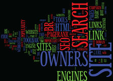 Effective Seo Tools For Site Owners Word Cloud Concept Stock Photography