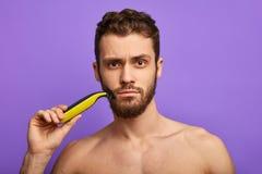 Effective shaving tool for men. royalty free stock image