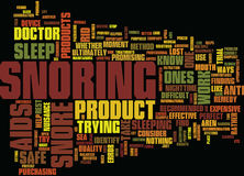 Effective Snore Aids Word Cloud Concept Stock Photography