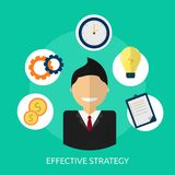 Effective Strategy Conceptual Design royalty free illustration