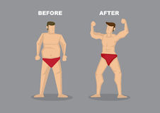 Effective Weight Loss Vector Illustration Stock Photo