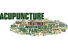 The Effectiveness Of Acupuncture Text Background Word Cloud Concept Stock Images