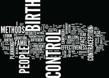 Effectiveness Of Birth Control Word Cloud Concept Royalty Free Stock Photography