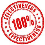Effectiveness business stamp stock photo