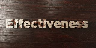 Effectiveness - grungy wooden headline on Maple  - 3D rendered royalty free stock image Royalty Free Stock Photo