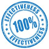 Effectiveness stamp royalty free stock photography