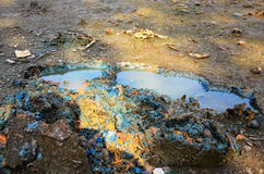 Effects Environmental from Chemicals and heavy metals in soil Stock Photography