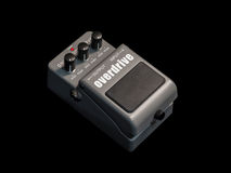Effects Guitar Pedal , Overdrive. On black background Stock Images