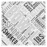 Effects of smoking on irritable bowel syndrome word cloud concept word cloud concept vector background Royalty Free Stock Image