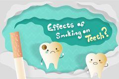 Effects of smoking on teeth. For your health concept Stock Image