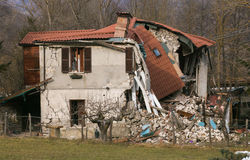 The effects of terrible central Italy earthquake Stock Photos