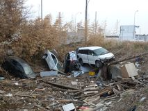 The effects of the tsunami in Japan. Royalty Free Stock Photo
