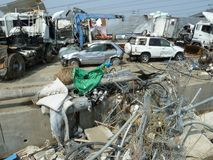 The effects of the tsunami in Japan. Stock Image
