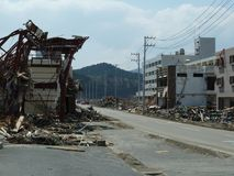 The effects of the tsunami in Japan. Stock Photo