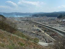 The effects of the tsunami in Japan. Disaster occurred in Japan in 2011 Royalty Free Stock Image